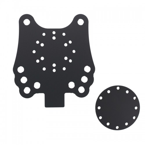 10 hole button plate D10