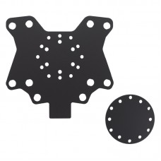 Acrylic Button Plate X10 and Disk