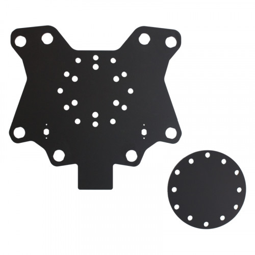 8 button & 2 rotary pot hole plate X82