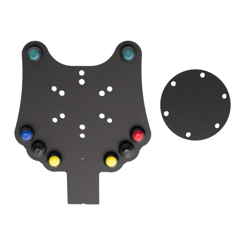 buttonplates, pushbuttons, switches and paddleshifter mounts.  Aftermarket upgrade for kit cars and race cars.